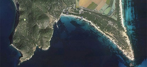 Paseo a la torre de ses Portes en Ses Salines en Ibiza